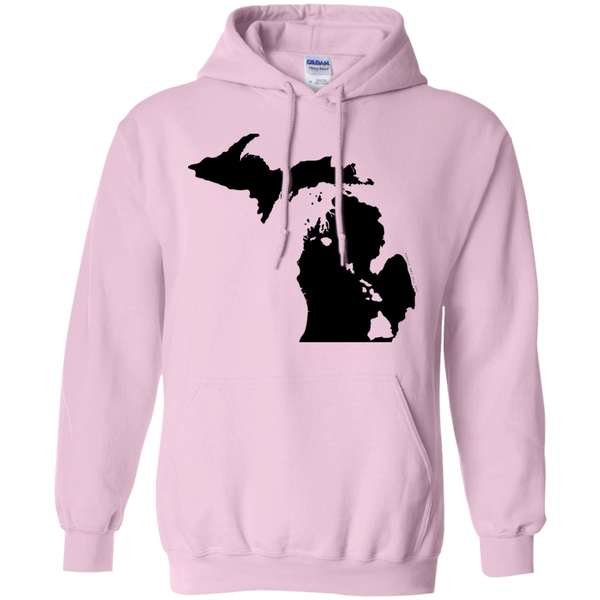 Living in Michigan with Hawaii Roots Pullover Hoodie 8 oz., Sweatshirts, Hawaii Nei All Day