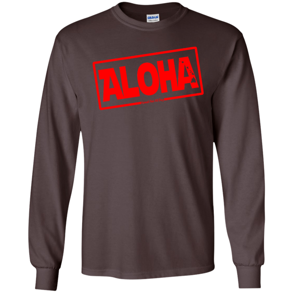 Aloha Hawai'i Nei (Islands red ink) LS Ultra Cotton T-Shirt, T-Shirts, Hawaii Nei All Day