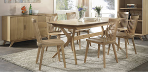 Milano extension Dining Setting / Ilva spindle back chairs