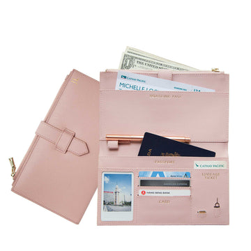Nude Pink Travel Wallet
