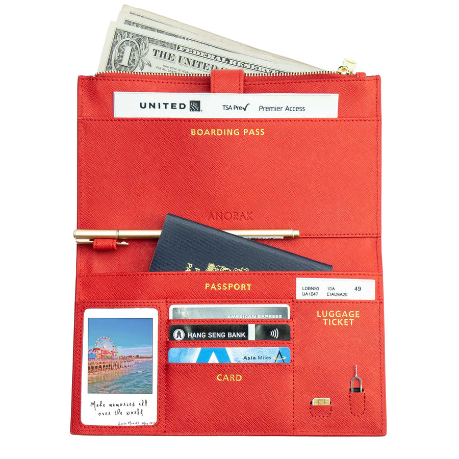 Red Travel Wallet
