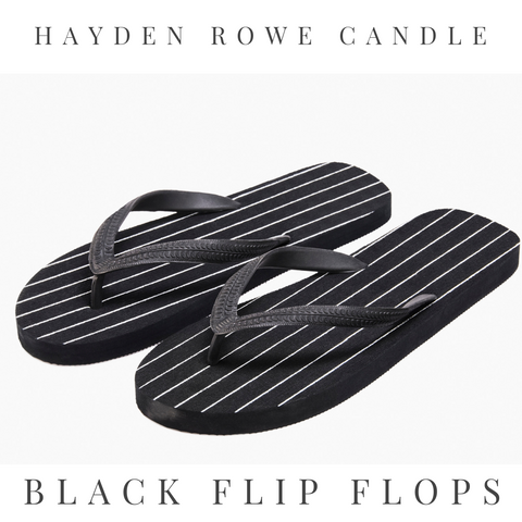 Black Flip Flops Scented Wax