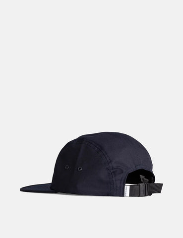 Norse Projects Technical Twill 5 Panel Cap - Dark Navy