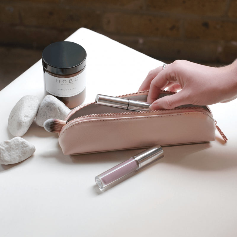 Travel Brush Pouch - Blush Pink