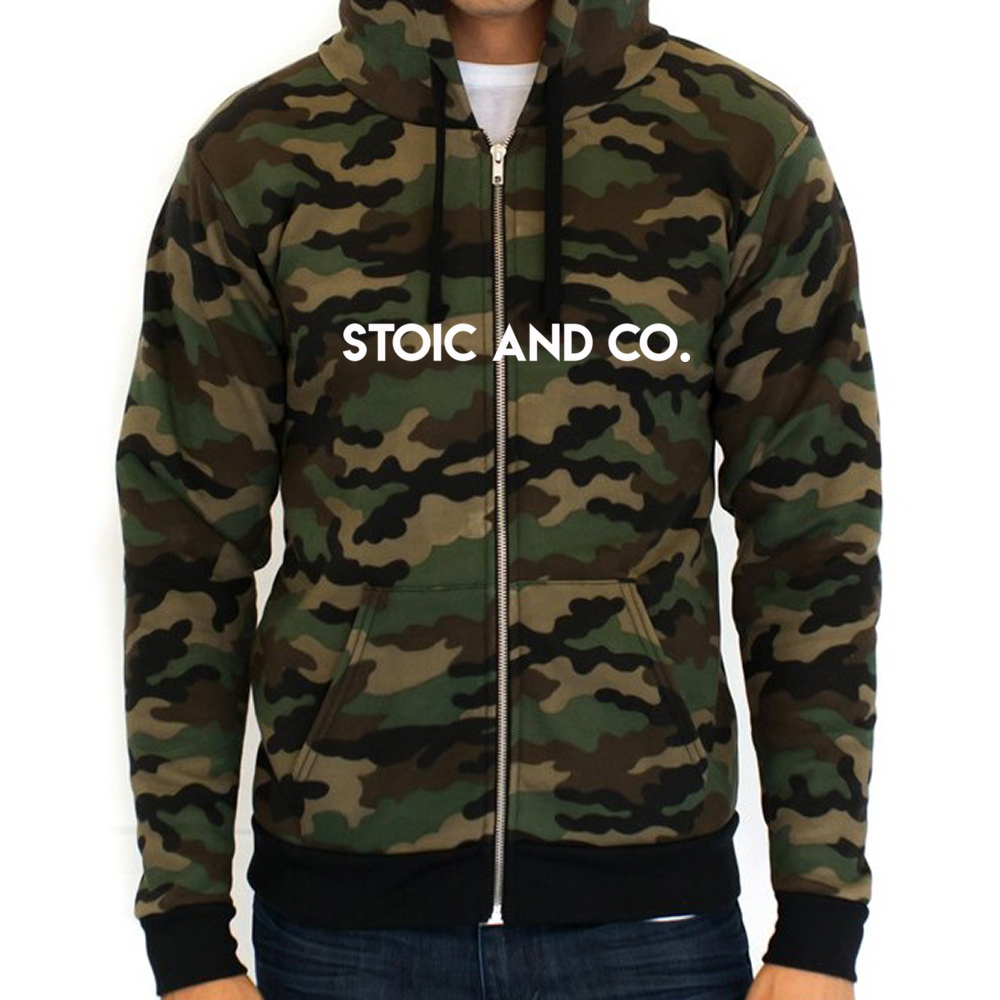 Stoic and Co Camo Hoodie