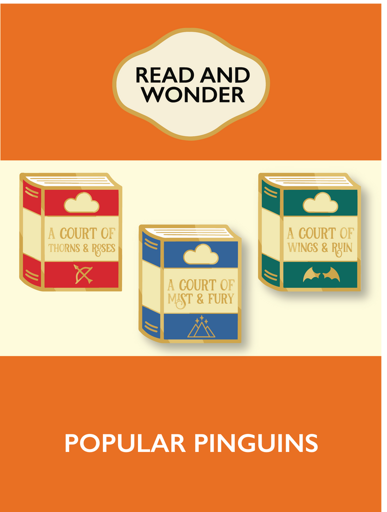 Popular Pinguin: ACOTAR trilogy Enamel Pins
