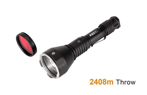** NOW HERE ** Acebeam W30 - 2.4 KILOMETRE THROW - Tactical & Diving Flashlight - 5 Years Warranty - includes battery - true-talon
