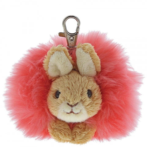 Peter Rabbit Flopsy Pom Pom Bag Clip