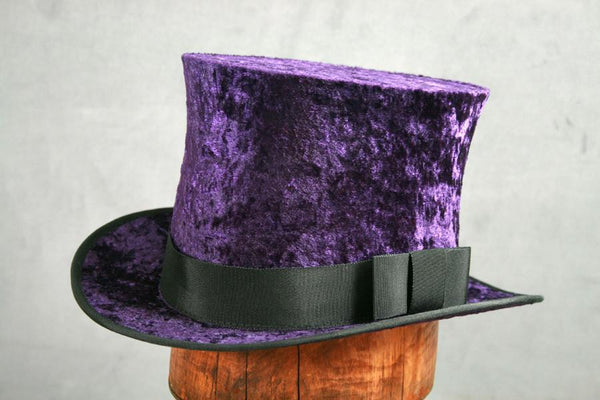Top Hat - Purple Crushed Velvet - Tall Toad
