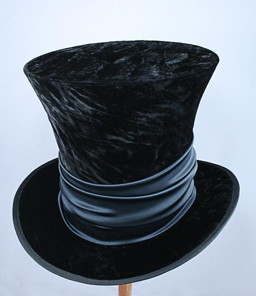 Mad Hatter - Black Velvet / Black Sash - Tall Toad