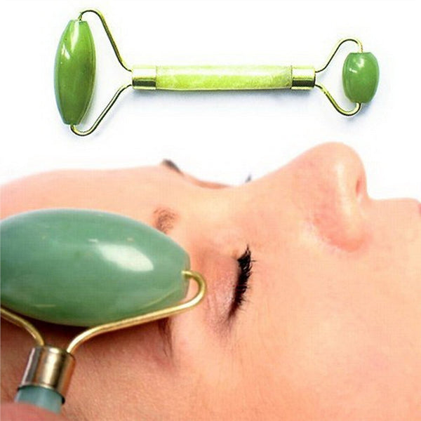 Facial Massage Roller - Natural Jade