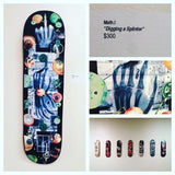 """digging a splinter"" Original Skateboard Deck Artwork by Math.I"