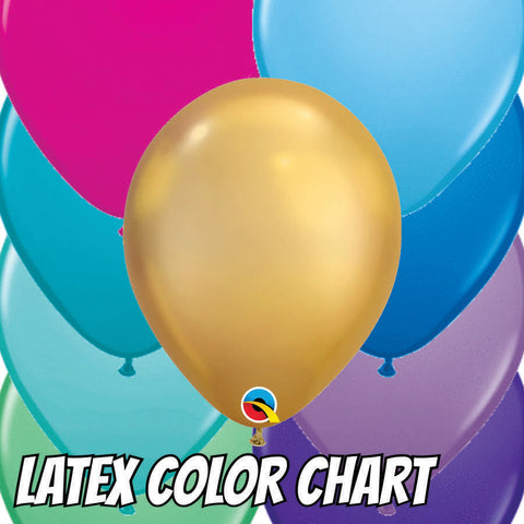 Latex Balloon Color Chart