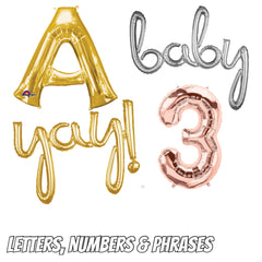 Foil Balloon Letters Numbers Phrases
