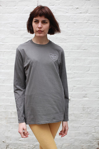 PUT YOUR HEART INTO IT LONG SLEEVE TEE BY THE ENGLISH TEE SHOP