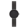 Women's Round All Black Watch Milanese Strap - Mark 2 - Shoreditch - 30mm