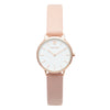 Women's Small Rose Gold Watch White Dial Pink Leather Strap - Mark 5 - Victoria - 32mm