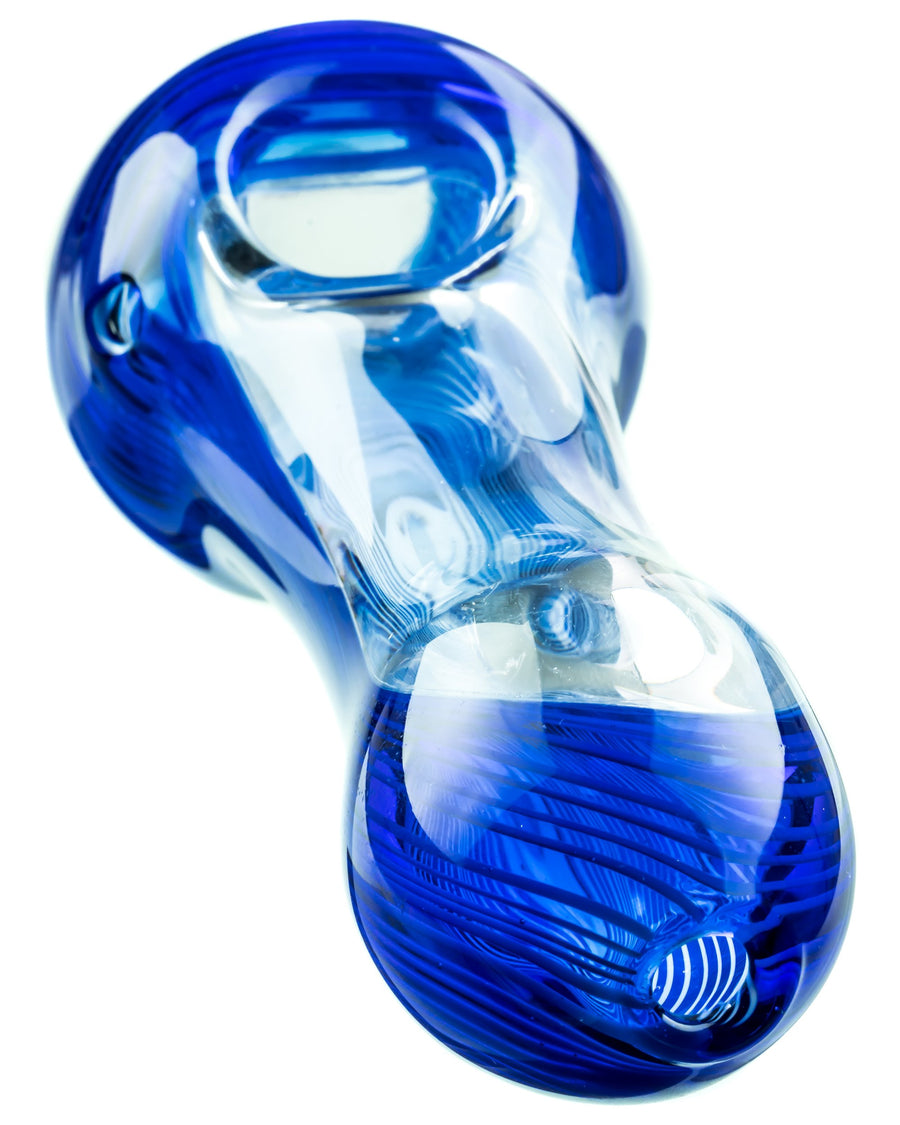 Blue and Clear Hand Pipe