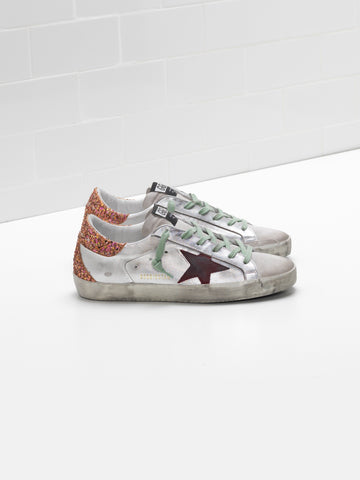 Superstar silver sparkling sneakers