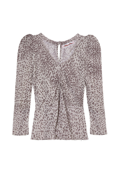leoni grey leopard top by Melanie Press