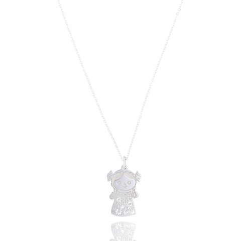Mexicanized Doll Sterling Silver Pendant
