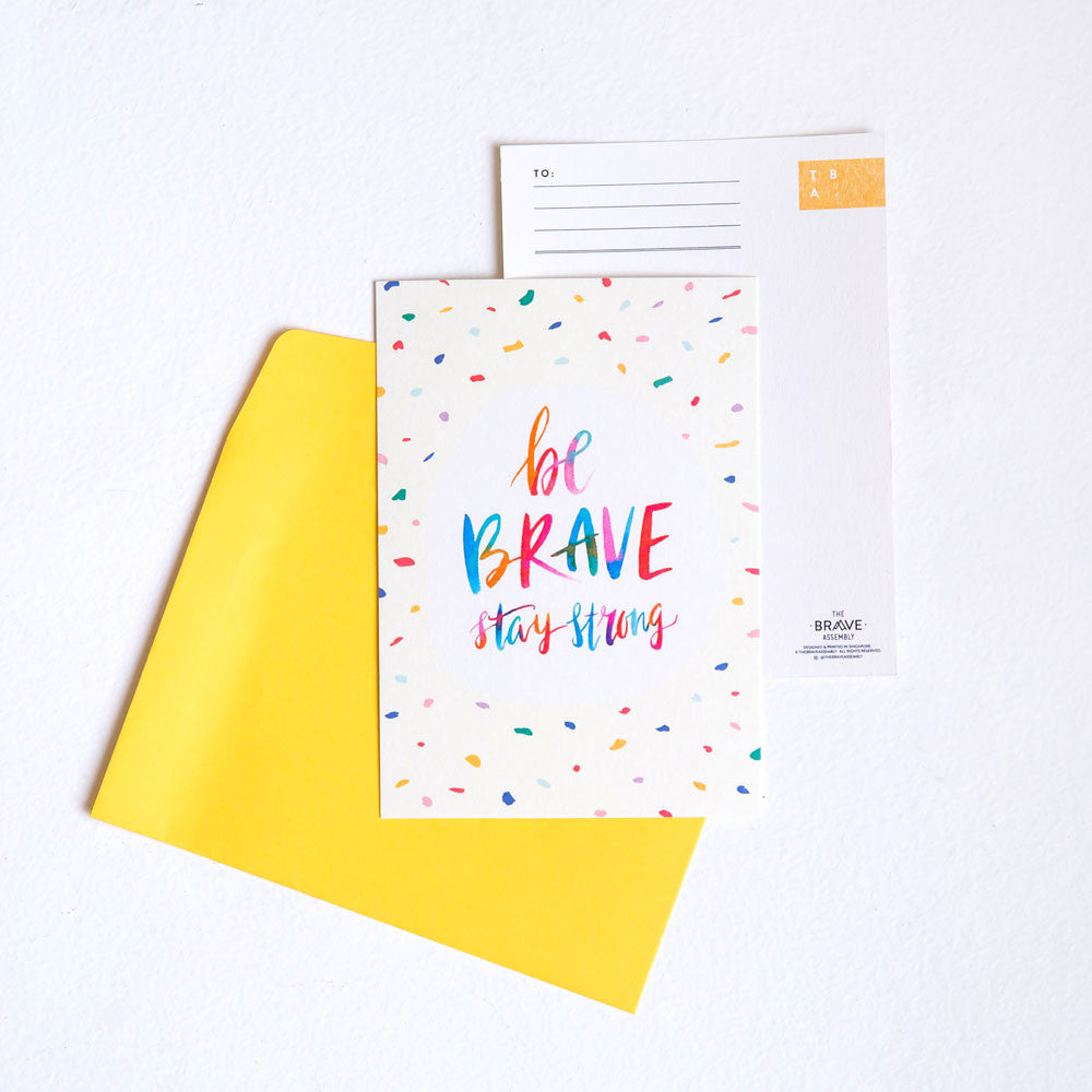 Be Brave, Stay Strong / Postcard
