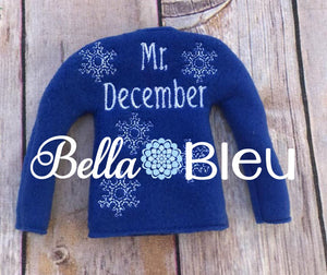 Adorable Mr. December Elf Sweater In the Hoop ITH Machine Embroidery design