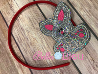 Bunny Headband Slider - In The Hoop - Machine Embroidery Design SL