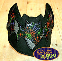ITH in the hoop Halloween Bat Headband Topper machine embroidery