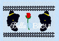 Inspired Princess Belle Faux Smocking Machine Embroidery Design