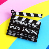 Customisable Clapperboard Brooch