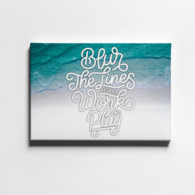 Artiful Blur The Lines motivational Canvas Wall art, framed