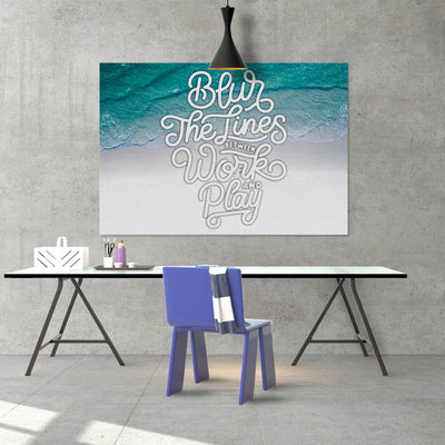 Artiful Blur The Lines Love motivational office and home decor wall art