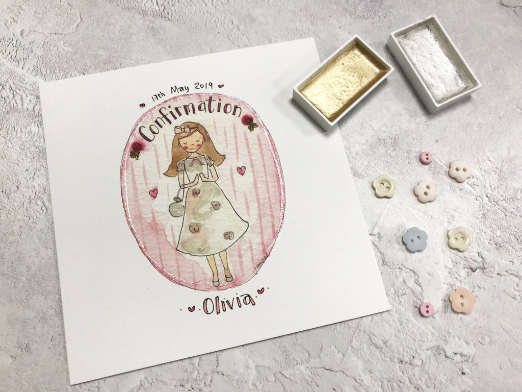 Girl Confirmation Card - Personalised
