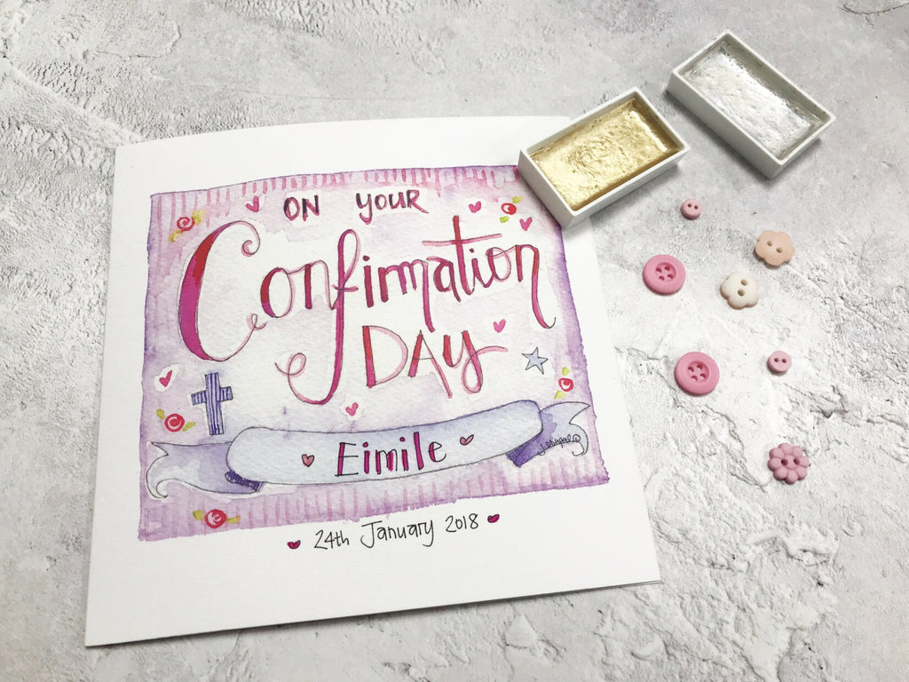 Confirmation Day Card - Personalised