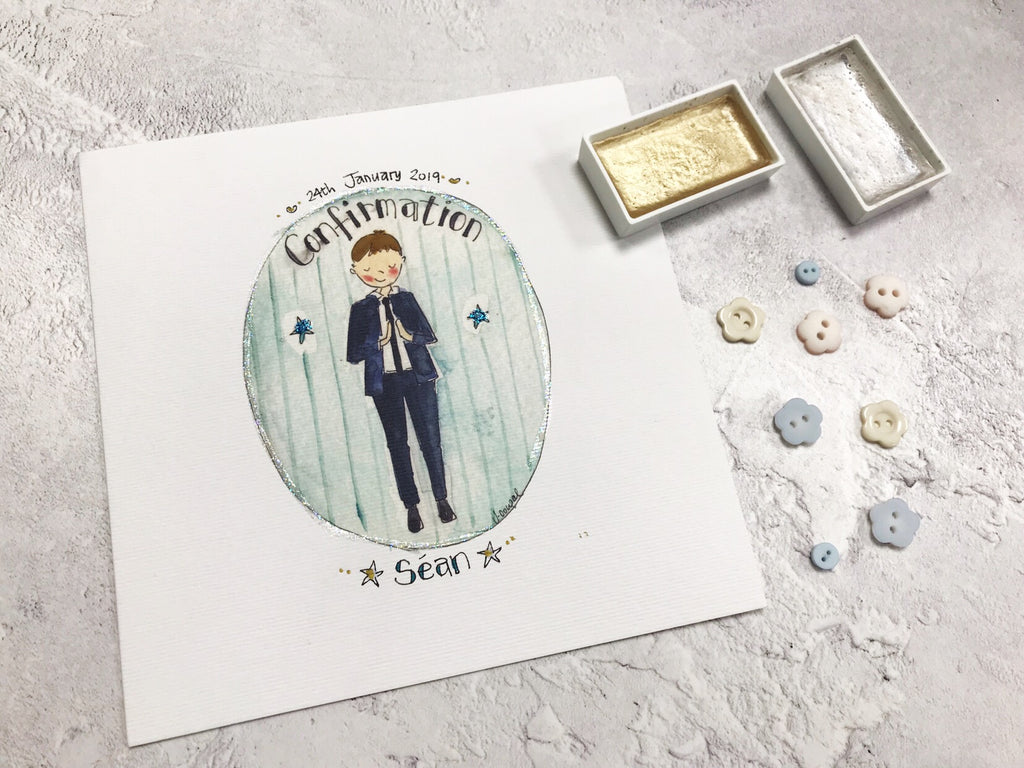 Boy Confirmation Card - Personalised