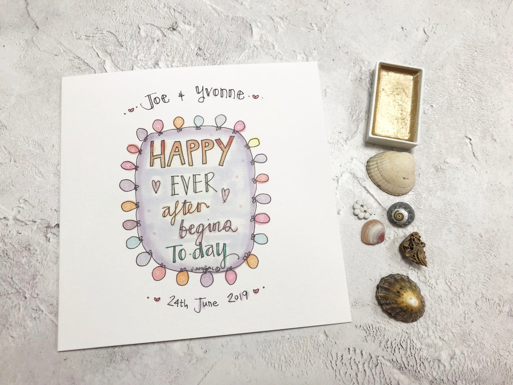 Happy Ever After Wedding Day Card- Personalised