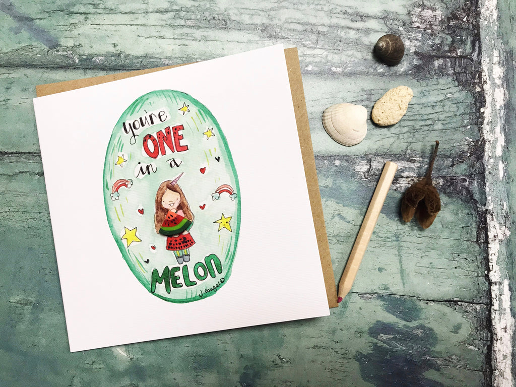 One in a Melon Card - Personalised