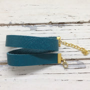 ANGEL - WRAP BRACELET / CHOKER NECKLACE - handmade by Brandy Bell Design || MATTE TEAL