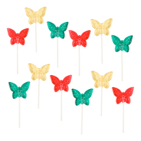 Clear Toy Lollipops - Butterflies, 12 ct