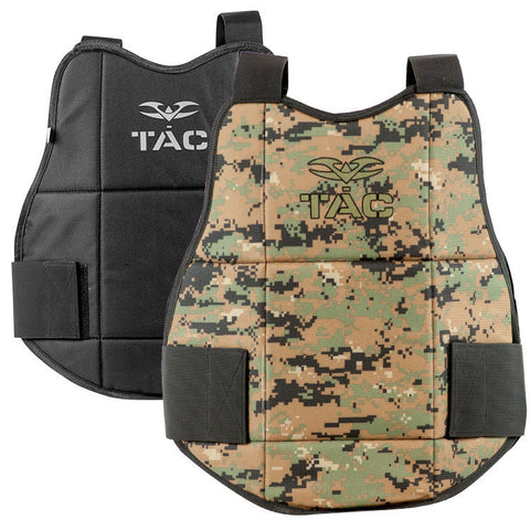 Chest Protector - V-TAC Reversible - Marpat/Black - Punishers Paintball