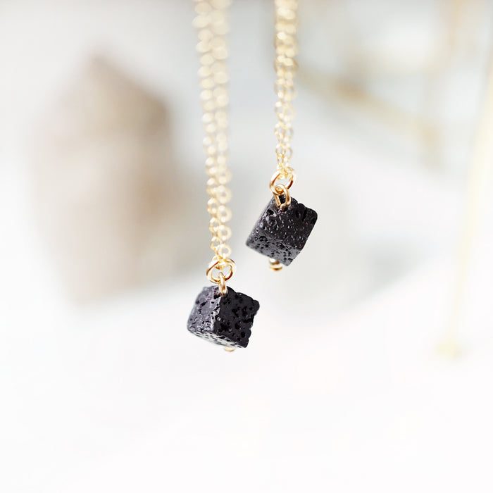 Lava Cube Aromatherapy Necklace - Lava Essential Oils
