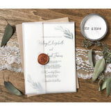 Modern Wedding Invitation, Greenery, Wax sealed-Wedding Invitation Suite-Love of Creating Design Co.