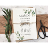 Rustic Greenery Save the Date