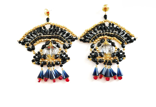 Sejal Swarovski Crystal Stud Statement Earrings