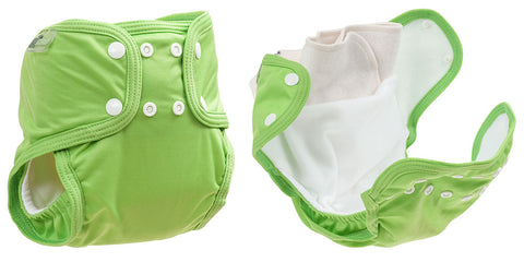little lamb sized pocket nappy information image to show benefits. Woven bamboo insert