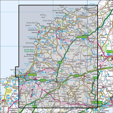 106 Newquay  & Padstow Historical Mapping - Anquet Maps