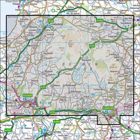 109 Bodmin Moor Historical Mapping - Anquet Maps