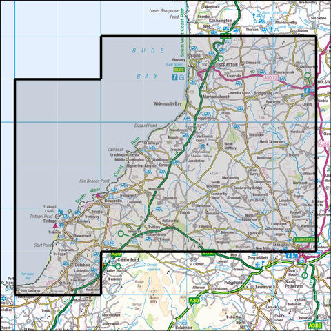 111 Bude, Boscastle & Tintagel Historical Mapping - Anquet Maps