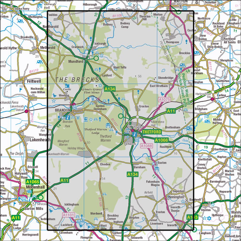229 Thetford Forest in The Brecks Historical Mapping